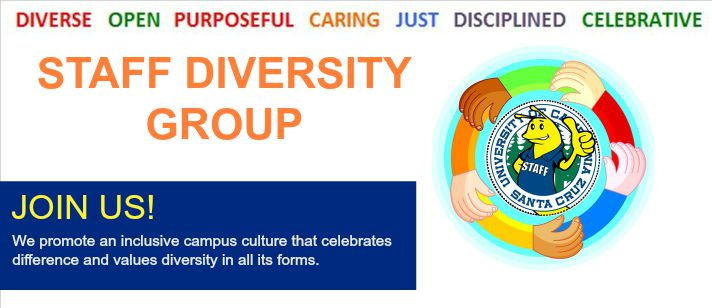 Staff Diversity Group Welcome Banner